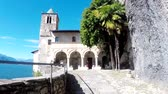 silence : Santa Caterina del Sasso. Italy. Perfect views of ancient monastery.