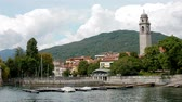springtime : Warm day in Pallanza Verbania on Lago Maggiore, Italy.