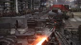 pec : Hazardous metal production. The general plan of the machines on which moves hot steel.