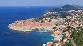 tourism : Old City of Dubrovnik, Croatia Stock Footage