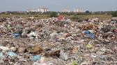 sloppy : Environmental pollution, dumping of garbage Stock Footage