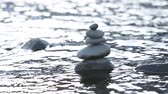 river : Stones in water Stock Footage