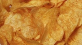 Classic potato chips rotating
