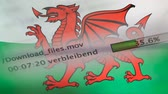 Download files on a computer, Wales flag