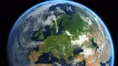 europe : Zoom to Europe. The European states from space. Clip contains earth, europe, zoom, space, map, globe, satellite, planet, european, european union. Stock Footage