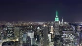 Центральная Америка : empire state building night view from top of the rock 4k time lapse