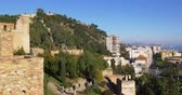 sol : malaga sunny alcazaba castle city bay view 4k spain