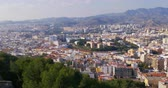 sol : 4k malaga city top view panorama sunny day spain