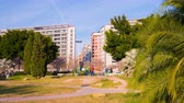 torres : spain valencia city sunny day park tranning spot 4k time lapse