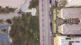 Top view of Ocean Drive. South Beach Miami Wideo