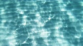 turkus : crystal turquoise clear water. underwater view Wideo