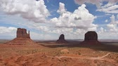Monument Valley panorama from the Navajo Nation Tribal Park, on the Arizona-Utah border, USA Vídeos