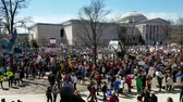 birtok : WASHINGTON, DC - MARCH 24, 2018: People participating in the March For Our Lives, a student-led rally with over 800 sibling events throughout the USA, asking for responsible gun control legislation.