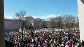 WASHINGTON, DC - MARCH 24, 2018: People participating in the March For Our Lives, a student-led rally with over 800 sibling events throughout the USA, asking for responsible gun control legislation.