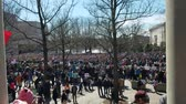 WASHINGTON, DC - MARCH 24, 2018: People gathered to participate in the March For Our Lives, a student-led demonstration with over 800 sibling events throughout the United States, done in collaboration with nonprofit organizations, asking for responsible g