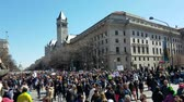 motto : WASHINGTON, DC - MARCH 24, 2018: People gathered to participate in the March For Our Lives, a student-led demonstration with over 800 sibling events throughout the United States, done in collaboration with nonprofit organizations, asking for responsible g