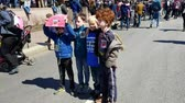 birtok : WASHINGTON, DC - MARCH 24, 2018: Young people chanting their support for the March For Our Lives, a student-led demonstration with over 800 sibling events throughout the United States, done in collaboration with nonprofit organizations, asking for respons