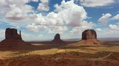Monument Valley panorama from the Navajo Nation Tribal Park visitor center, on the Arizona-Utah border, USA