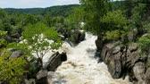 iszapos : The Potomac river rapids swollen by heavy rains, at the Great Falls, in Maryland, USA
