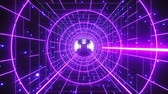 サイバー : Abstract Retro Polygonal Laser Tunnel Flight Background