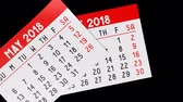 kasım : 3D 2018 calendar on black background