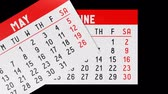 даты : 3D calendar on black background