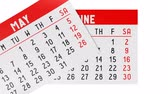 kasım : 3D calendar on white background