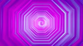 octagon : 3D 4k abstract tunnel neon animation - moving octagons