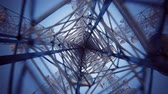 iletmek : Loopable animation of endless communication tower. Stok Video