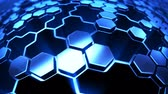 Hexagon technology background Vídeos