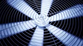 parte : Spinning fan closeup animation can represent air conditioning, ventilation.
