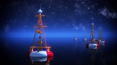 alerta : Time-lapse 3d animation of buoy during starry night.