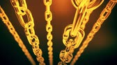 korumalı : Reflective gold chain moving on a dark background. Loopable animation.