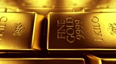 saturado : Exclusive gold bars loopable animation. Stock Footage