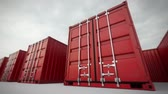 shipped : Picture of red containers in the row.