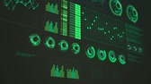 pokles : 01949 Close-up Of Advanced Futuristic Screen With Rising And Decreasing Bars. GUI