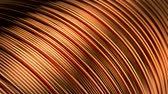 probówki : Close up of the bare bright copper wire on the spool. CG loopable animation. Wideo