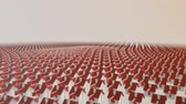 "aluguel : Animation of thousands small red houses transforming in one big ""development"" word. Vídeos"