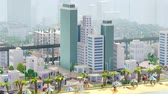 Aerial View Of Metropolitan Cityscape With Skyscrapers And Transport Vídeos
