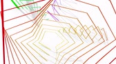 oběť : Abstract Animated Background From Different Color Wire. 3D Animation. Seamless Looping.