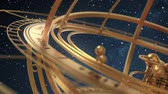 halak : Armillary Sphere On Background Of Starburst