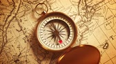 longitude : Golden Compass On The Map Indicating Direction