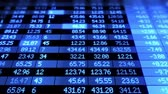 financial : Stock Market board moving. Blue color. Looped animation. HD 1080.