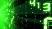 html : Abstract background with falling numbers. Loop-able. Green light. HD 1080.
