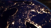 Night Cities from the Satellite. Europe. HD 1080.