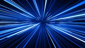 portal : Space Travel Through Stars Trails Blue Color. Beautiful Abstract Hyperspace Jump. Digital Design Concept. Looped 3d Animation of Glowing Lines 4k Ultra HD 3840x2160.