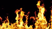 火の玉 : Beautiful Realistic Big Fire Seamless on Black Background. Looped Isolated Flame 3d Animation. 4k Ultra HD 3840x2160 動画素材