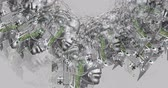 humane : Digital animation of surreal cyborg heads