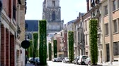 In France, Orleans is a medieval town. View of the city center, close to the famous cathedral.