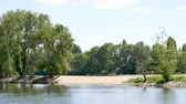 зелень : Orleans, France. Landscape of the Loire River during the summer. Horizontal panorama.